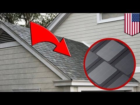 Tesla solar roof: New Tesla-SolarCity panels look just like ordinary roof tiles - TomoNews
