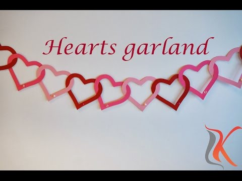 DIY | Valentine's Day Room Decorations - Heart Garland |Komali Arts