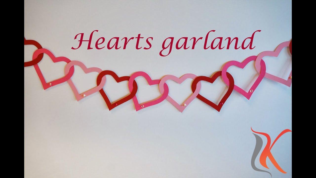 diy valentines day room decorations heart garland komali arts
