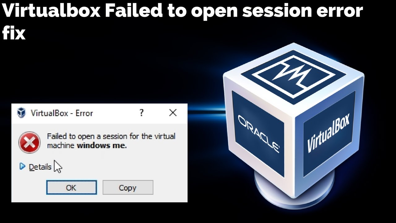 Virtualbox failed to open session error fix - VT-X is disabled in the BIOS  for all CPU modes