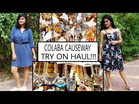 Huge Colaba Haul   Mumbai Street Shopping   Try On haul   Colaba Causeway haul   Random Insanity