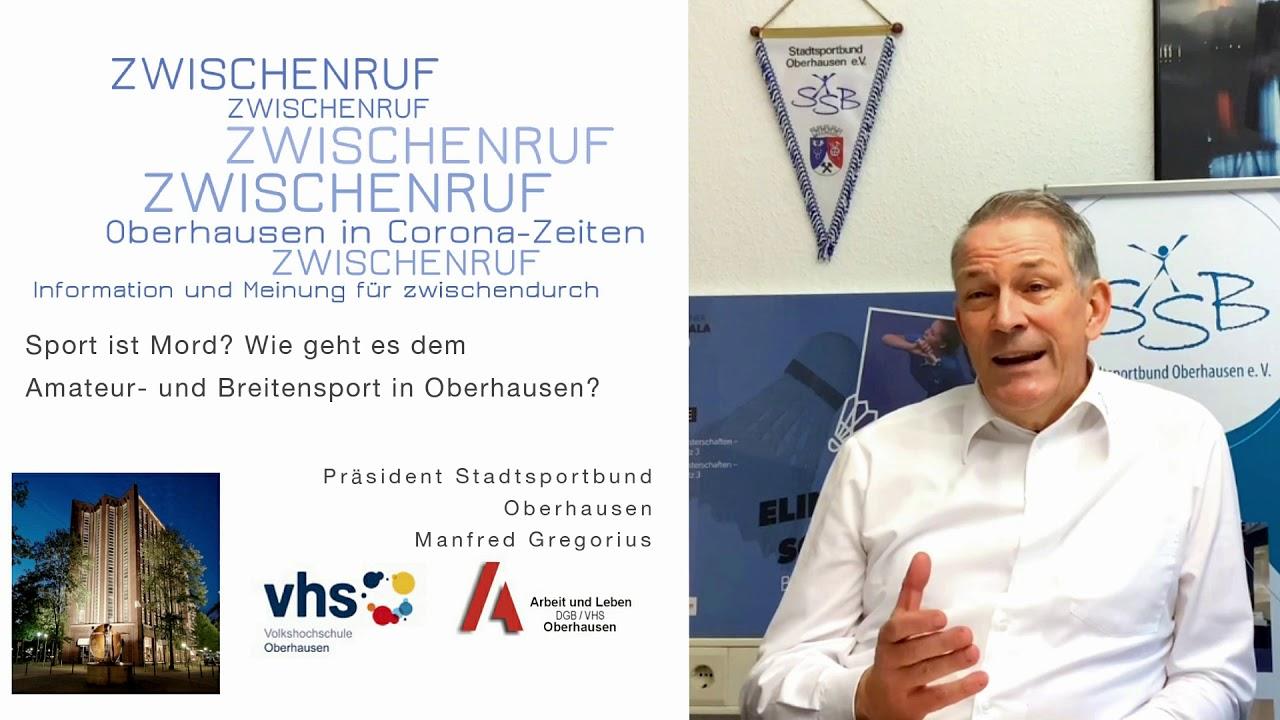 SSB-Präsident Manfred Gregorius im ZWISCHENRUF