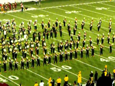 Alabama State University Marching  showing Tuskegee Marching Band who is the boss!!!