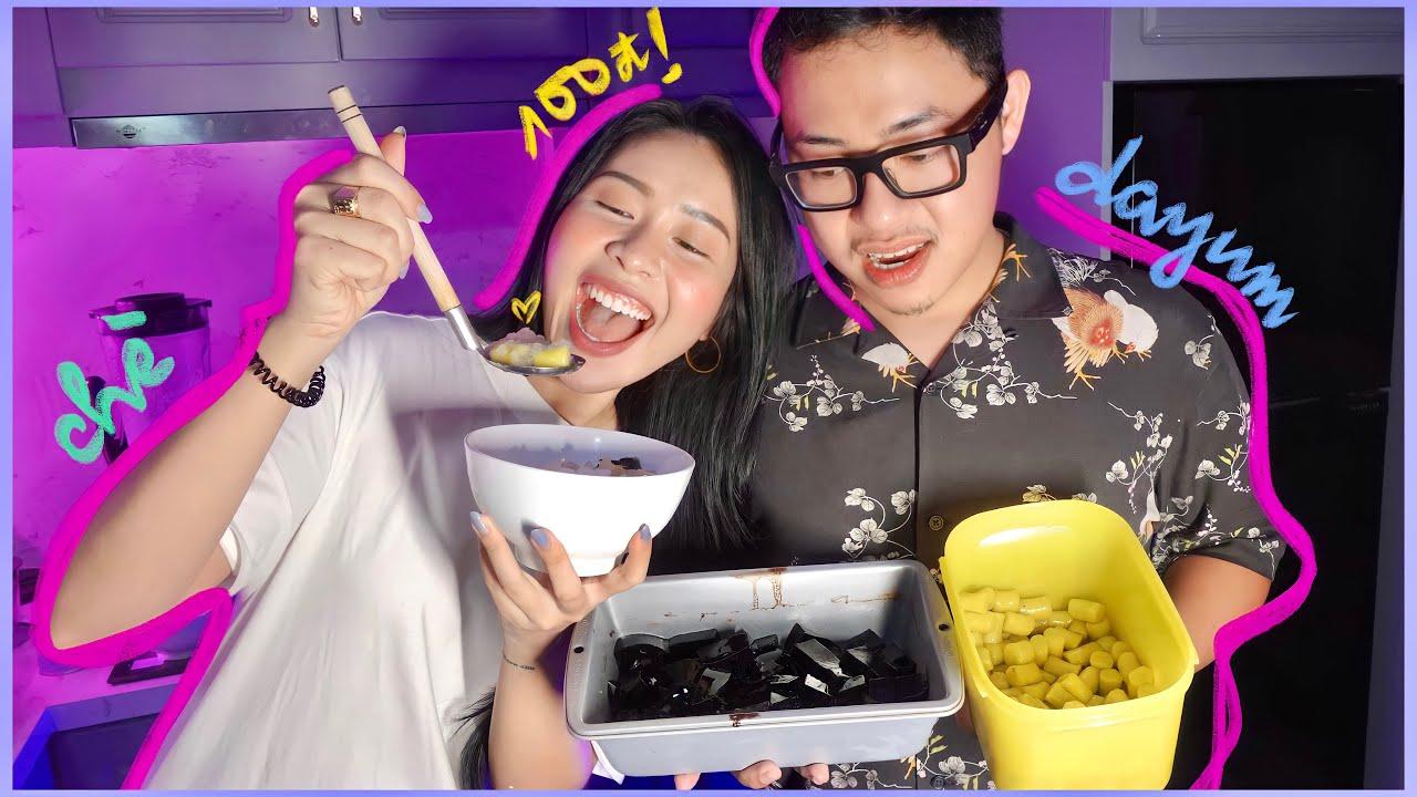 Ở nhà nấu thử CHÈ KHOAI DẺO ver. ít péo cùng anh Nam | EAT LAUGH LOVE 💜 | An Phương