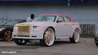 WhipAddict: Crazy Custom Chrysler 300 Phantom on Starr Wheel 30s! Wide Body and Glass Roof!