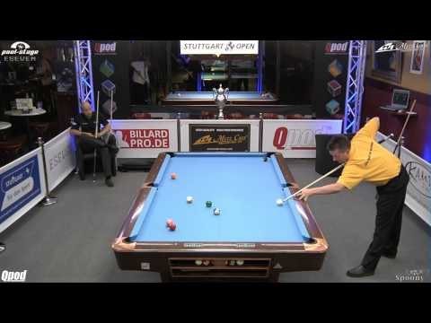 Stuttgart Open 2013, 10 Roman Hybler vs Thomas Lindloff, 10-Ball, Pool-Billard, Cue Sports