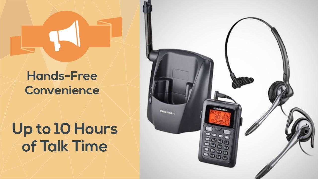 99188236087 Plantronics CT14 DECT 6.0 Cordless Headset Phone - YouTube