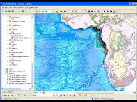 South Atlantic Digital Geological Atlas - African Arcview Project Sample