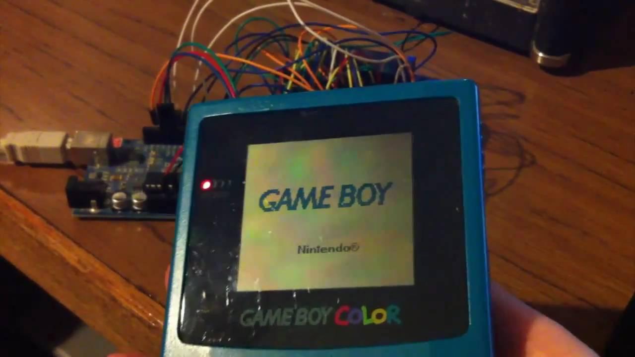 Gbcartread gameboy ram writing demo using arduino youtube