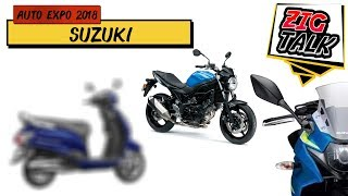 Suzuki Motorcycles  @ Auto Expo 2018: What To Expect | ZigTalk | ZigWheels.com