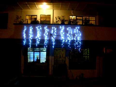 Luces navide as led youtube - Patio de luces decoracion ...