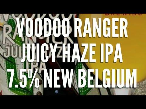 Beer review #107 Voodoo Ranger Juicy Haze IPA 7.5% New Belgium brewing