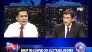 ENTREVISTAS SINAUT SUNAT 16-04-2012 : EN CANAL 11 - RBC TELEVISION