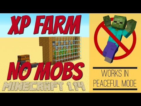 Minecraft XP Farm WITH NO MOBS for Minecraft . made IN SURVIVAL MINECRAFT with Avomance