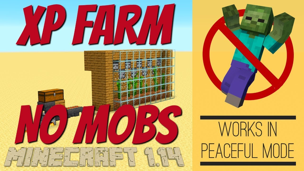 Minecraft XP Farm WITH NO MOBS for Minecraft 10.104 made IN SURVIVAL  MINECRAFT with Avomance