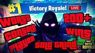 New Drum Gun Coming Soon Worst Console Player 200+ Wins Solo Grind Fortnite Battle Royale