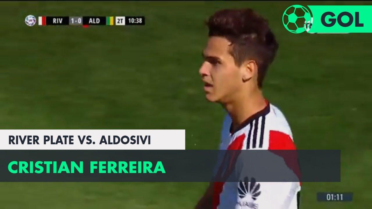 Cristian Ferreira (1-0) River Plate vs Aldosivi   Fecha 10 - Superliga Argentina 2018/2019