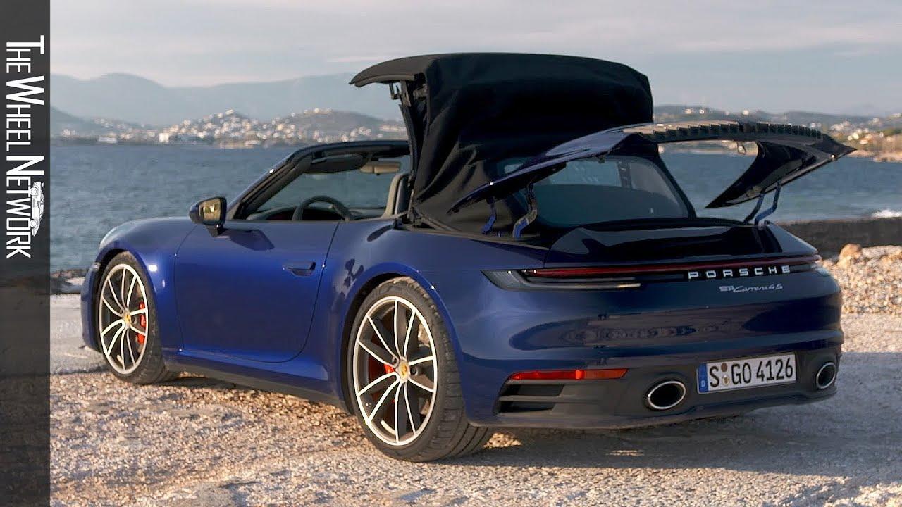 2020 Porsche 911 Carrera 4s Cabriolet Gentian Blue Metallic Exterior Interior Youtube