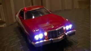 Starsky and Hutch Ford Torino 1:18 Scale with Lights and 4-Tone Siren - Car Number Three