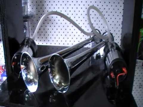 Loud Car Horn >> Air Horn Truck/Car SUPA LOUD TWO AIR COMPRESSORS Chrome ...