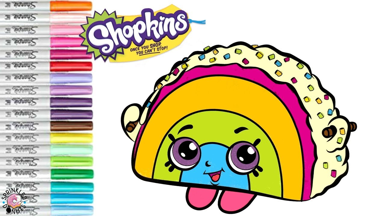 Shopkins Coloring Book Pages Rainbow