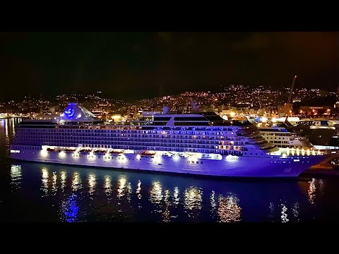Marina Oceania Cruises in port of Genoa 4K