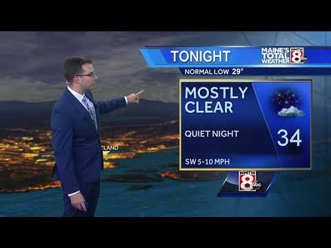 Sunny and mild Saturday with overnight showers