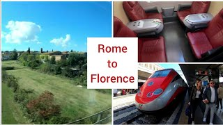 Rome to Florence with Frecciarossa, First class, Italy 4K