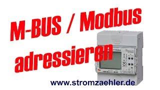 SINUS Stromzähler: Adressierung des M-BUS / MODBUS am Gerät