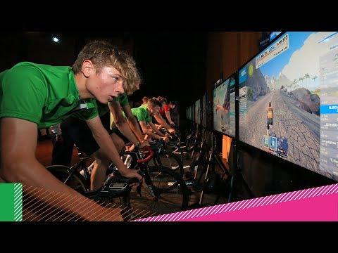 Virtual reality cycling hits School Games 2017