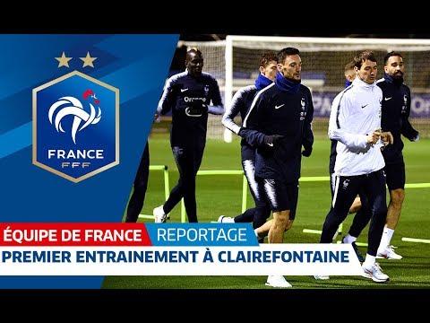 Premier entraînement des Bleus, Equipe de France I FFF 2018