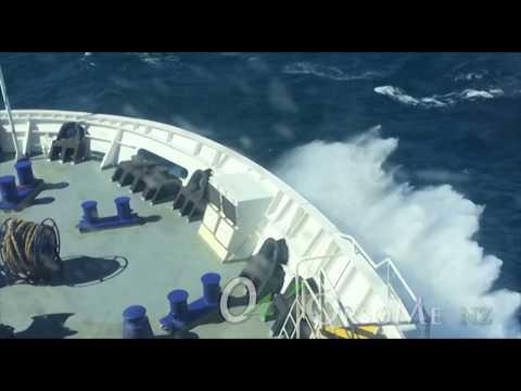 Huge Waves Cook Strait Crossing