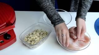 Кармашки из филе куриной грудки с гарниром в мультипечи GFgril GFB-1500 PIZZA-GRILL