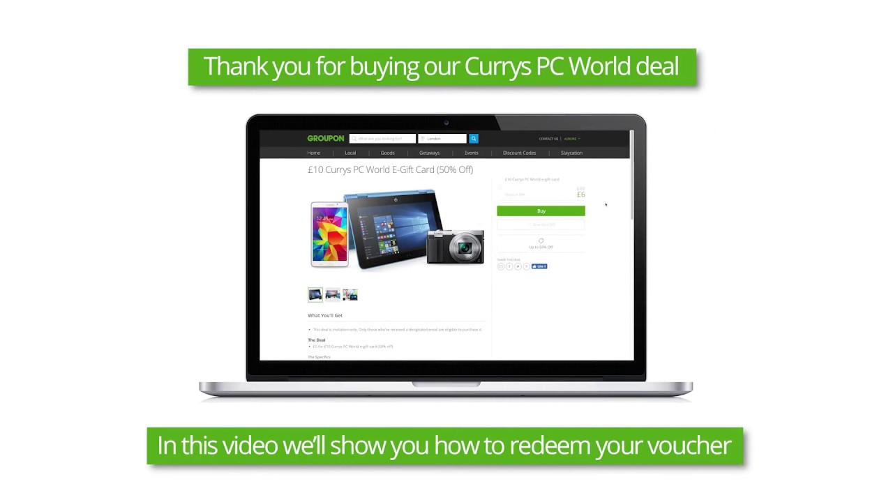 Currys Gift Card Balance >> 10 Currys Pc World E Gift Card Currys Pc World Groupon