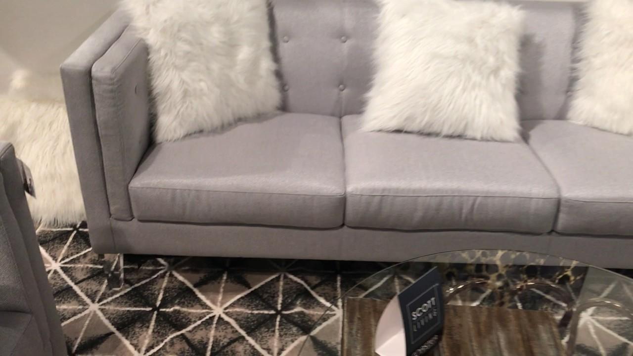 Scott Living 506211 Hemet Clear Leg Shelter Arm Sofa Set