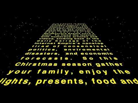 nerdbastards wishes you a merry christmas in star wars screen crawl fashion - Merry Christmas Star Wars