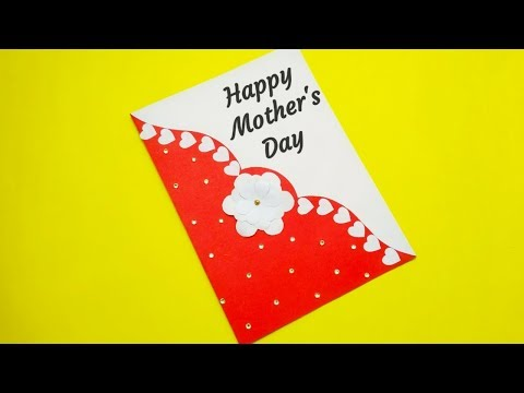 Mother's Day Greeting Card Simple | Mother's Day Card | Handmade Card Idea