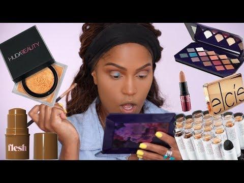 FULL FACE USING NEW MAKEUP: FENTY, HUDA, & MORE | MakeupShayla