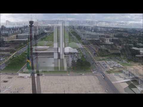 Voo sobre Brasília DF Foto Aérea Brasil