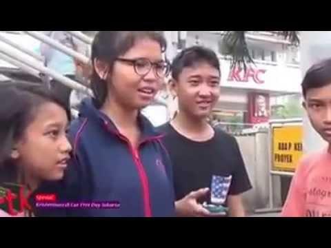 Kristenisasi di Car free days, Jakarta.