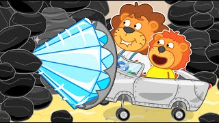 Lion Family | Journey to the Center of the Earth №44 | Cartoon for Kids