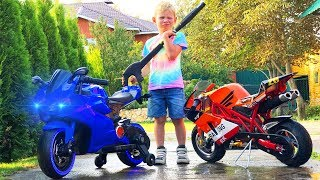 BABY biker was repair mini moto washing bike and ride on POWER WHEEL Super Lev