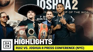 HIGHLIGHTS | Ruiz vs. Joshua II NYC Press Conference