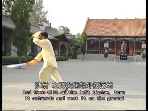 Chen Style Tai Chi Taiji double broadswords 1/2(Eng sub)-Thái cực Song đao