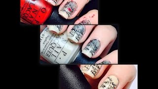 Bloody Barbed Wire - 3 in 1 Nail Art