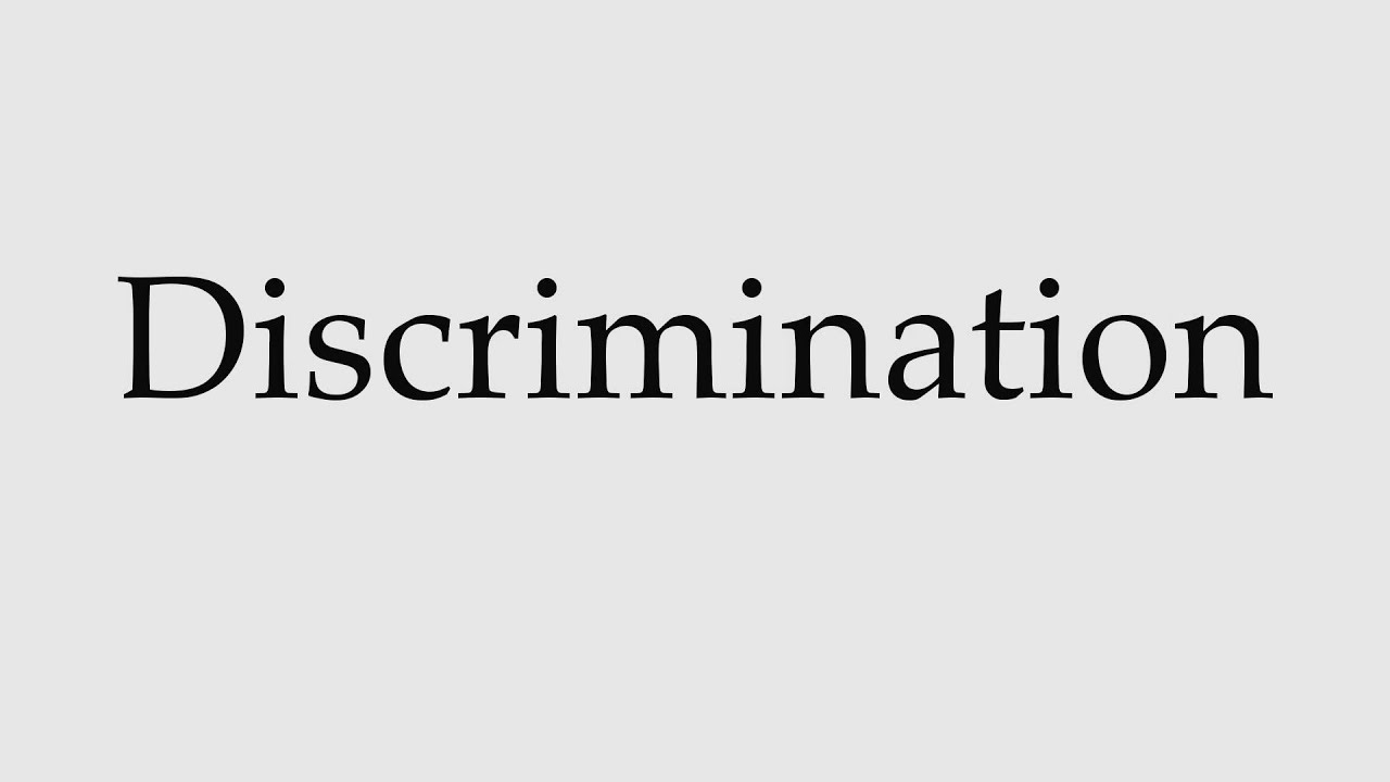 How to Pronounce Discrimination