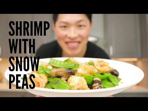 How to Make Shrimp With Snow Peas | Wok Stir Fry | Chinese Food, Shrimp Recipe