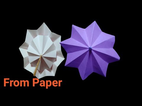 Paper UMBRELLA || How to make paper umbrella || Diy umbrella craft ||