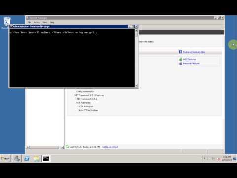 Windows 2008R2 Installing DISM Telnet Client