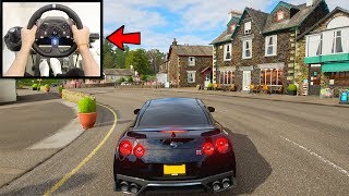 Forza Horizon 4 Driving Like A BOSS (Steering Wheel + GT Omega Wheel Stand) Nissan GTR Gameplay